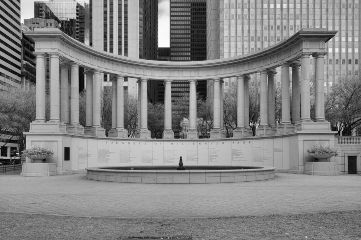 Millenium Fountain B&W