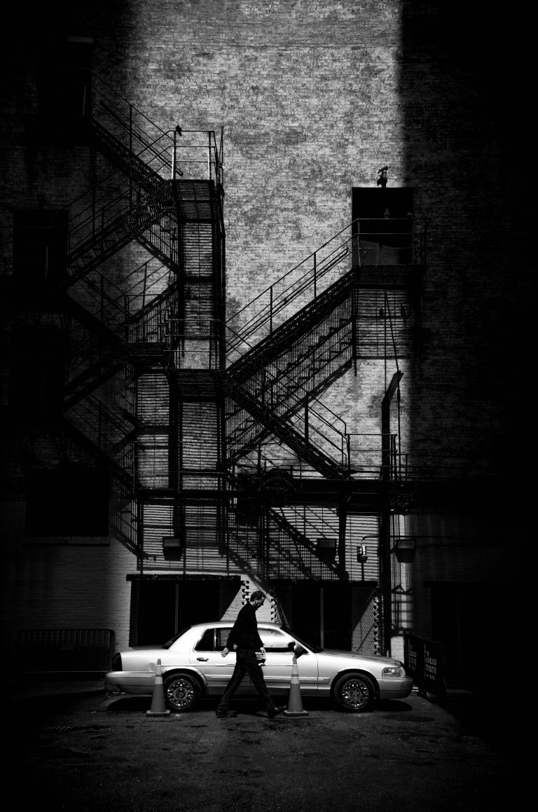 Chicago Theater Back Alley BW